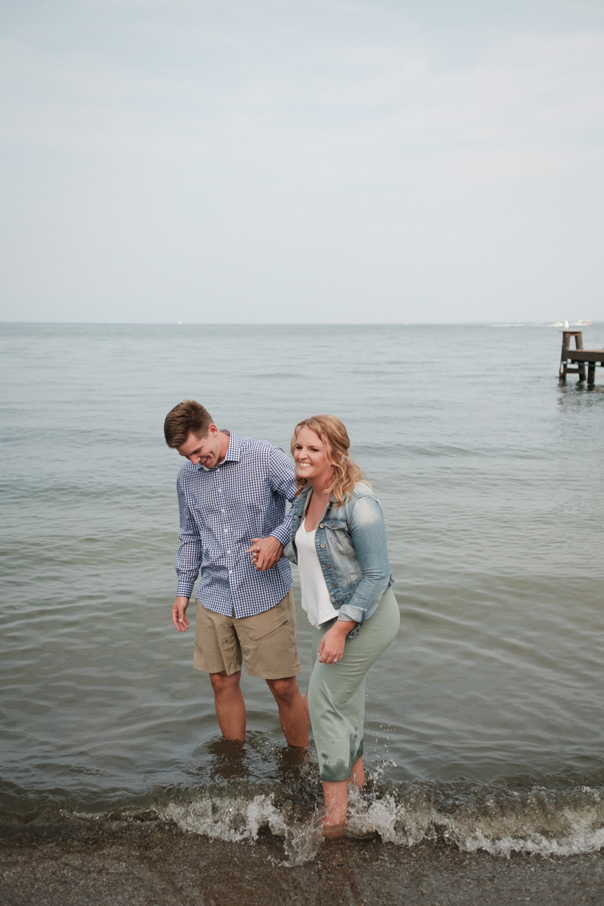 laughing in the water, st. clair shores michigan