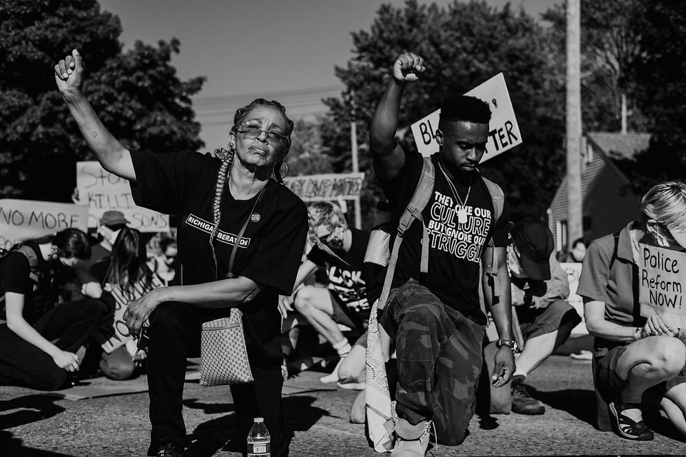 Black Lives Matter protest in Berkley Michigan