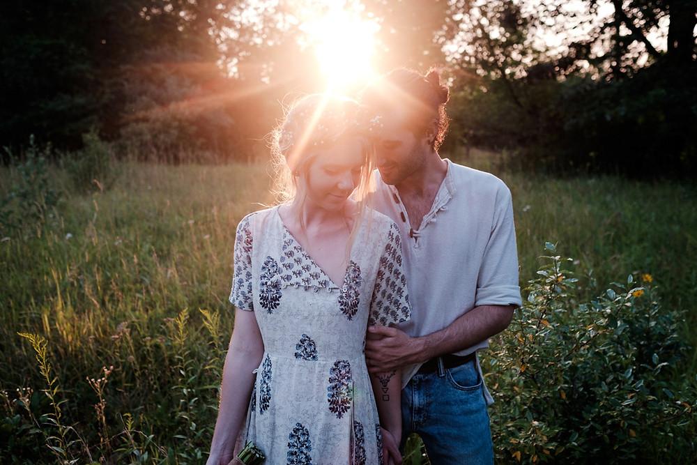sweet embrace, outdoor wedding