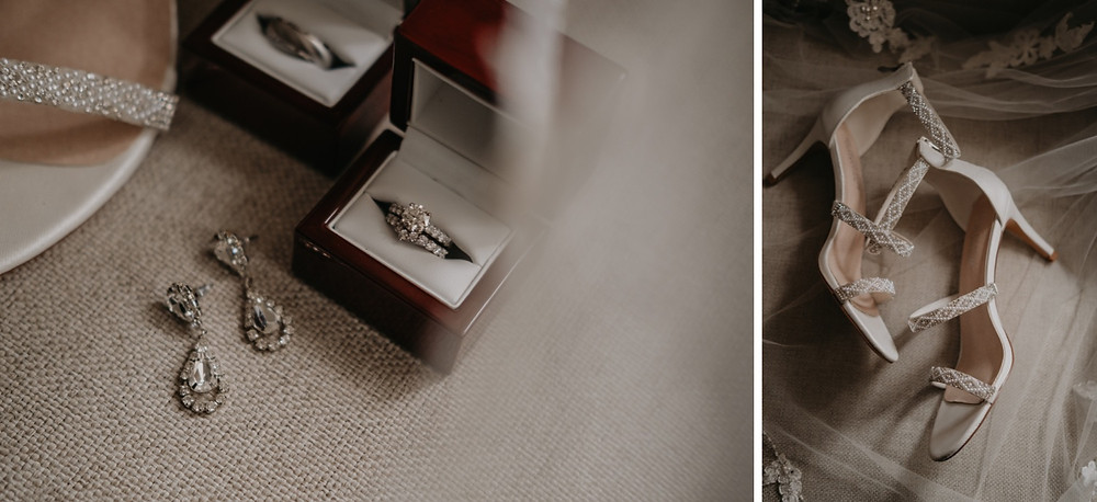 Wedding day jewelry details. Photographed by Nicole Leanne Photography.