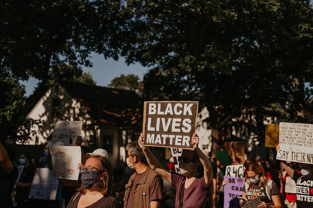 Michigan protest in Berkley for Black Lives Matter movement