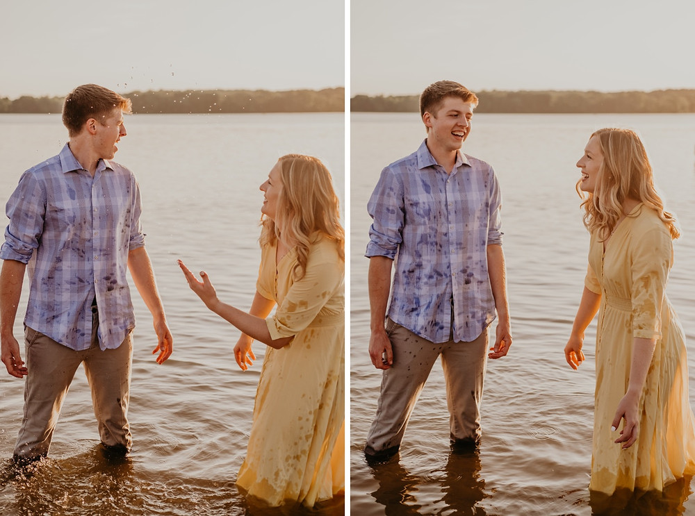 Stony Creek Metro Park engagement session. Photographed by Nicole Leanne Photography