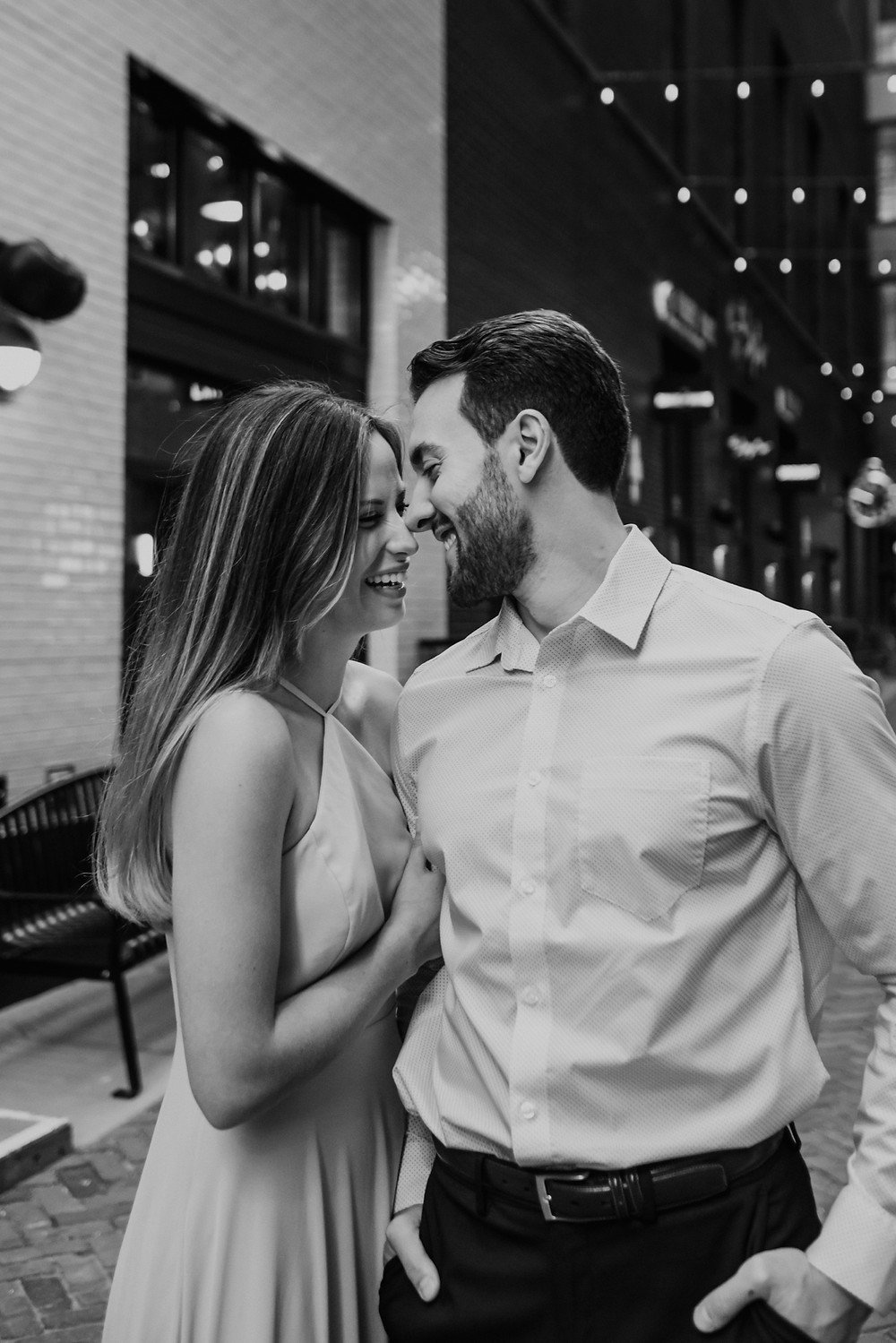 Engagement session in downtown Detroit. Photographed by Nicole Leanne Photography.