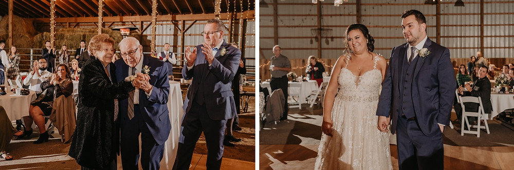 Metro Detroit couple on the dance floor with family