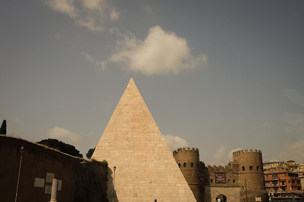 pyramid in rome, tomb