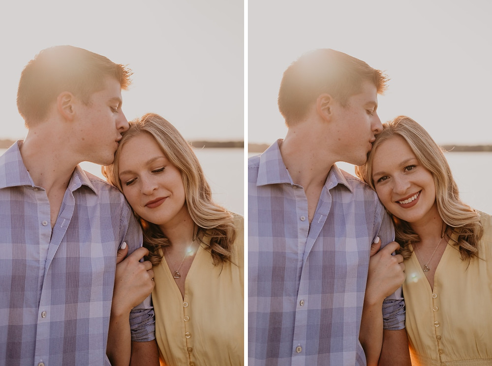 Stony Creek Metro Park engagement session by the lake. Photographed by Nicole Leanne Photography