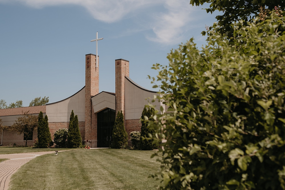 Trinity Presbyterian Church in Plymouth Michigan. Photographed by Nicole Leanne Photography.