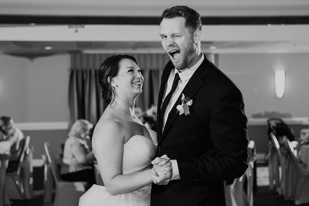Bride and groom wedding dance candids. Photographed by Nicole Leanne Photography.