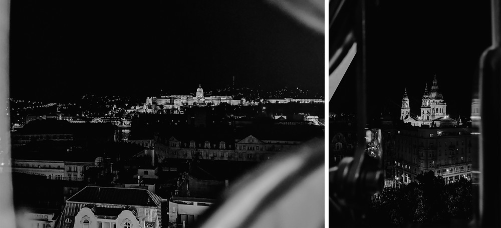 Night landscape photos in Budapest. Photographed by Nicole Leanne Photography.