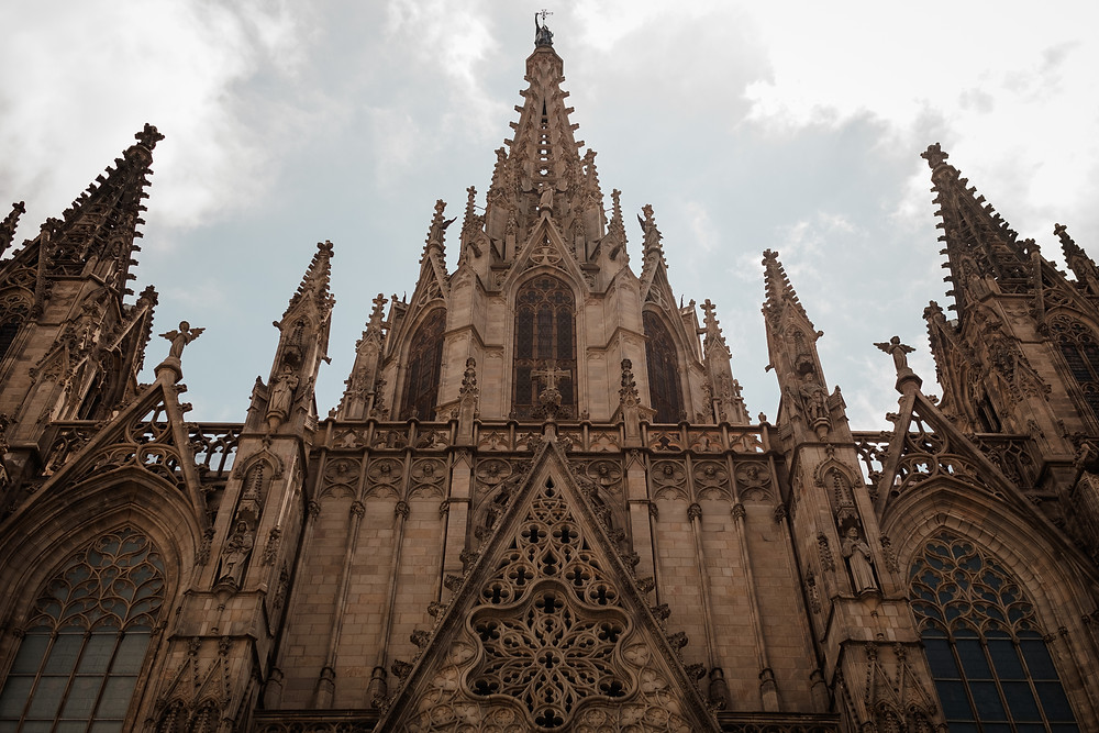 Barcelona cathedral and building architecture. Photographed by Nicole Leanne Photography.