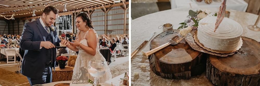 Metro Detroit couple share wedding cake together