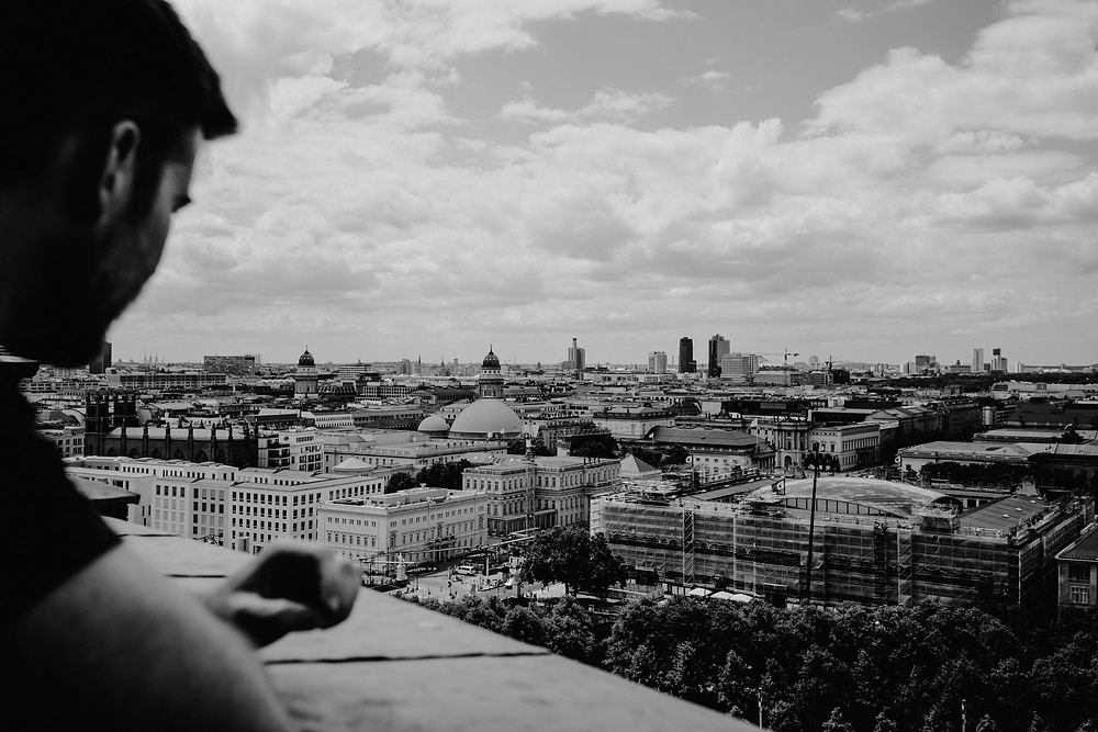 Rooftop view of the Berlin landscape. Photographed by Nicole Leanne Photography.