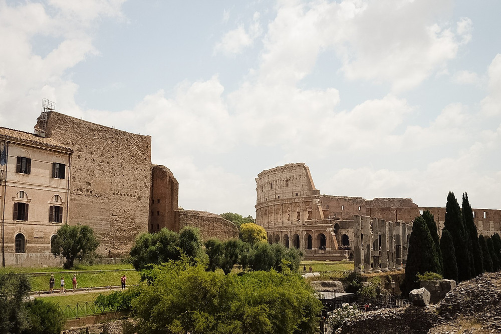 roman ruins, the Colosseum