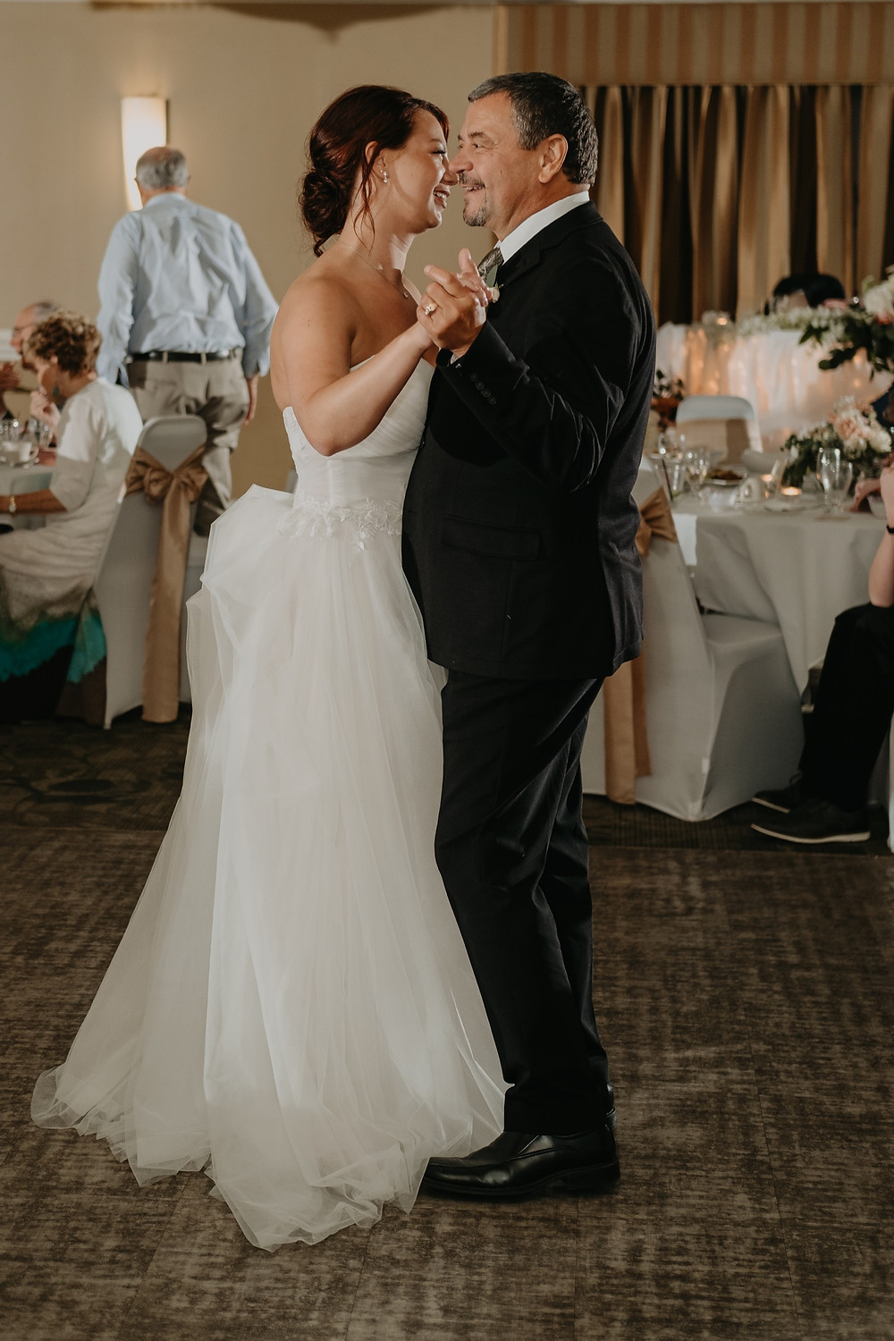 Bride and father wedding dance. Photographed by Nicole Leanne Photography.