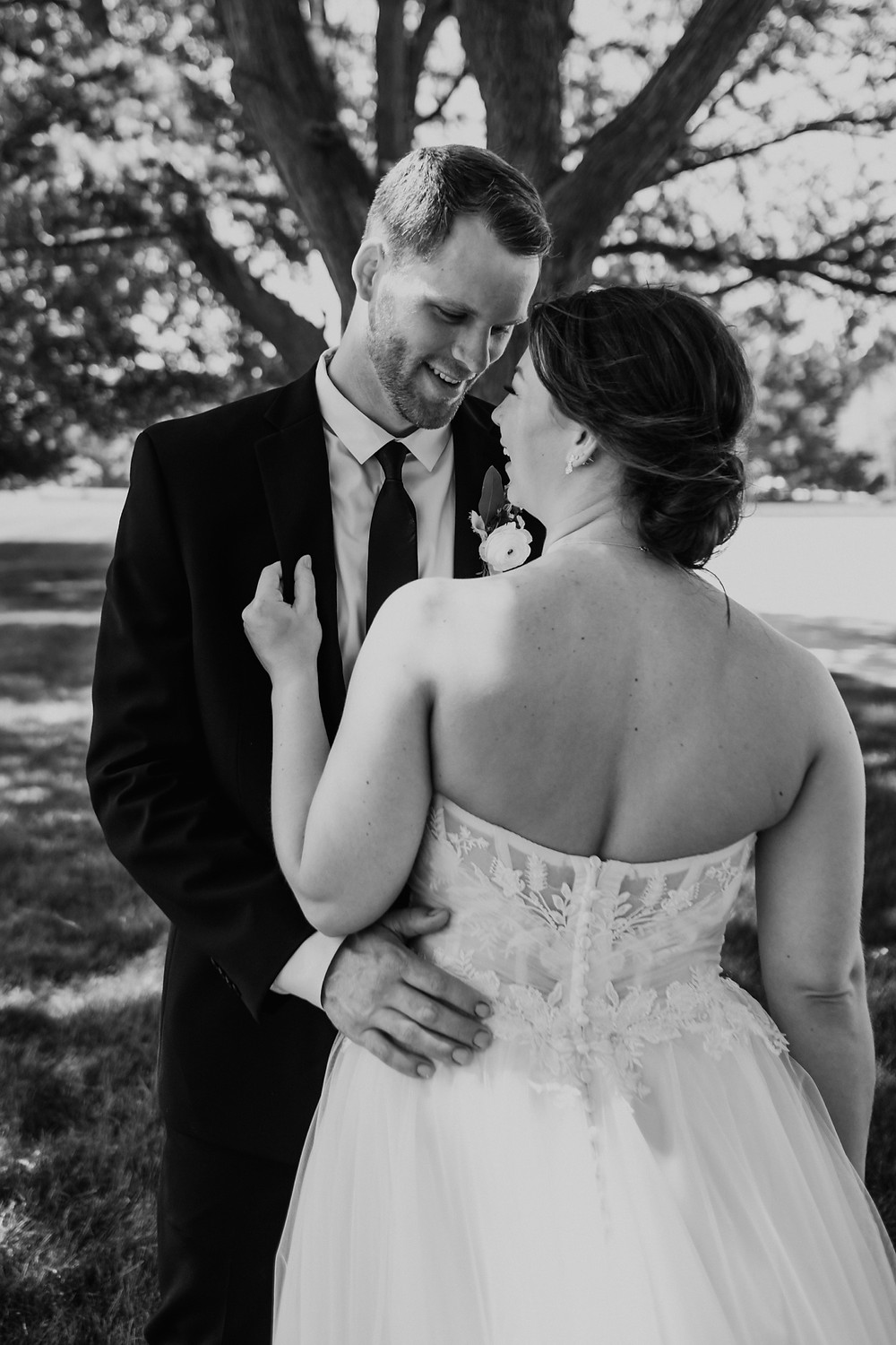 Black and white wedding photography. Photographed by Nicole Leanne Photography.