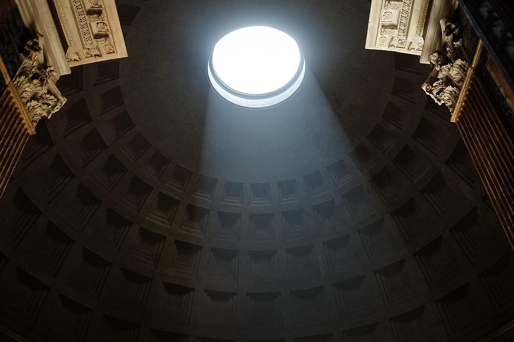 sunbeam streaming into the Pantheon
