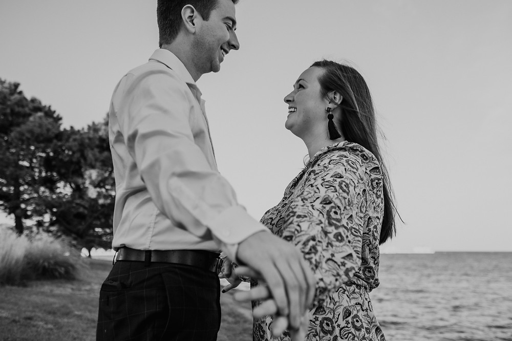 Metro Detroit engagement photos with couple. Photographed by Nicole Leanne Photography.