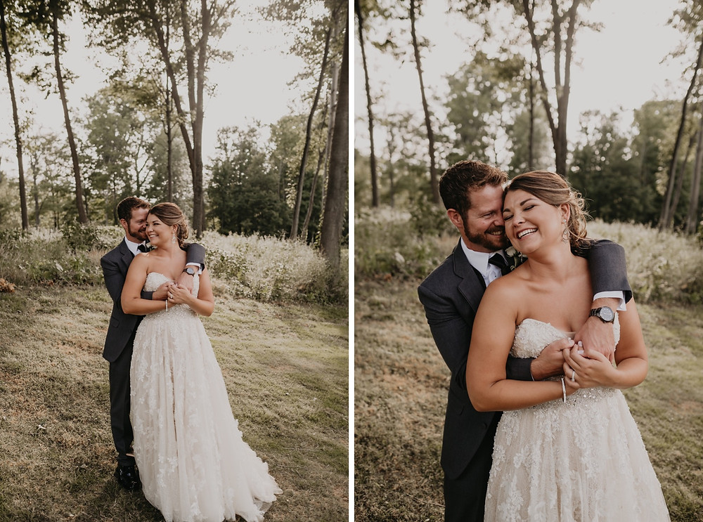Outdoor wedding photos in Metro Detroit. Photographed by Nicole Leanne Photography.