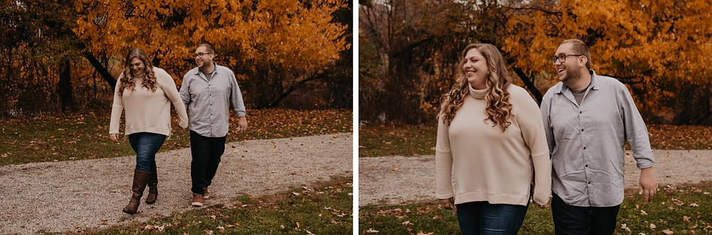 Fall engagement session in Metro Detroit. Photographed by Nicole Leanne Photography.