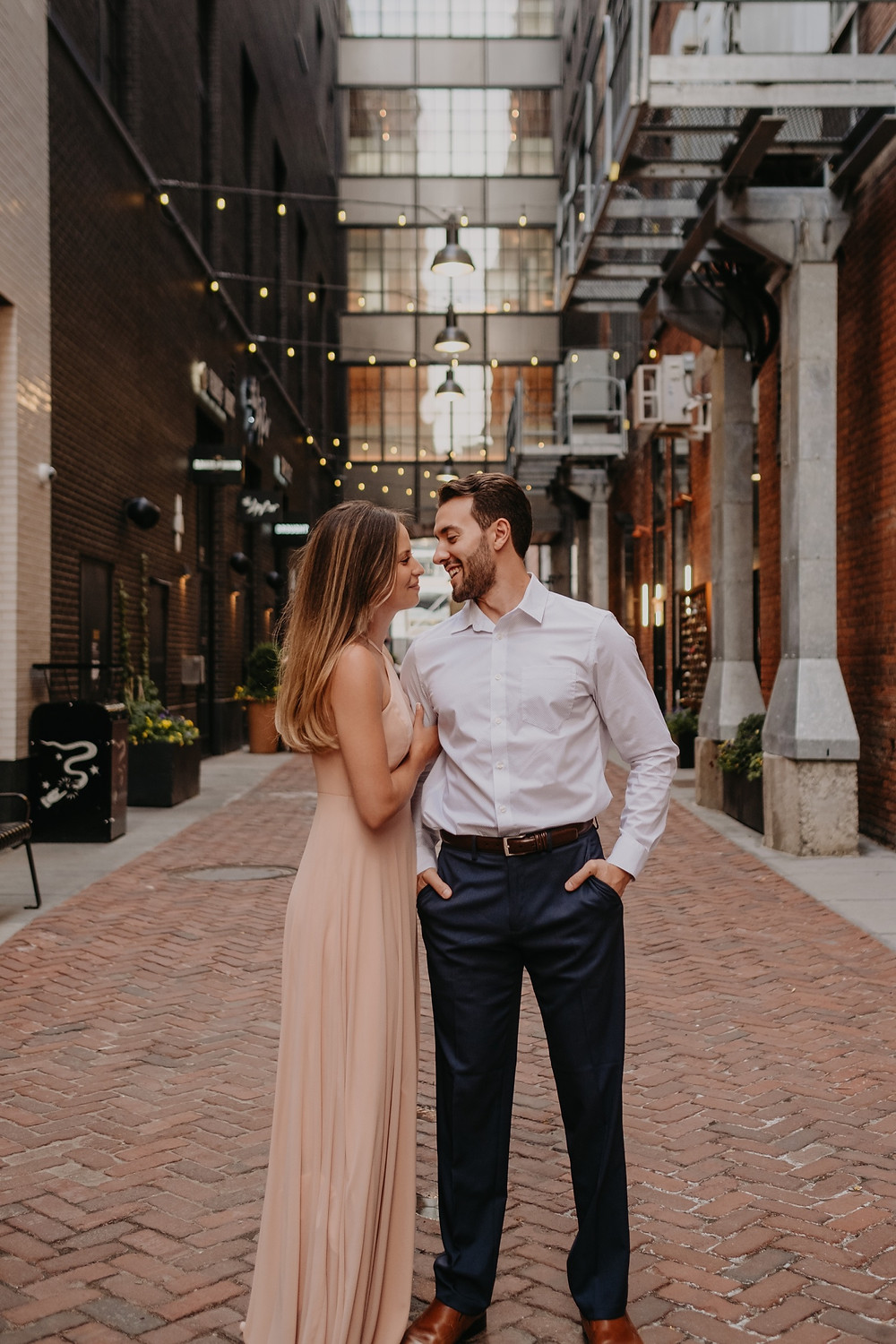 Downtown Detroit engagement session. Photographed by Nicole Leanne Photography.