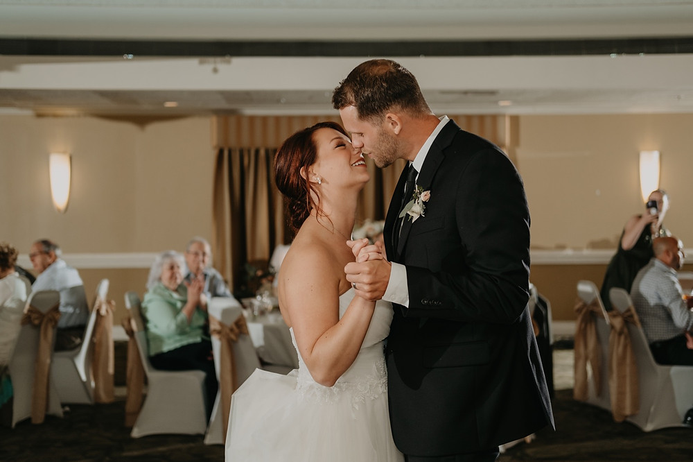 First dance as husband and wife candids. Photographed by Nicole Leanne Photography.