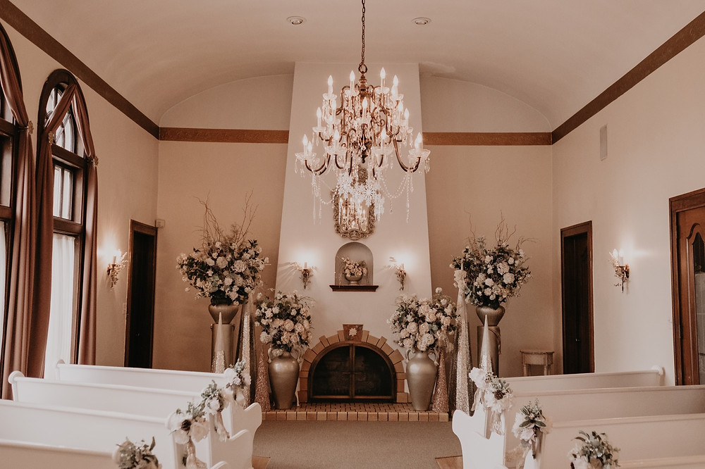 Victoria Wedding Chapel in Waterford, Michigan. Photographed by Metro Detroit Wedding Photographer Nicole Leanne Photography