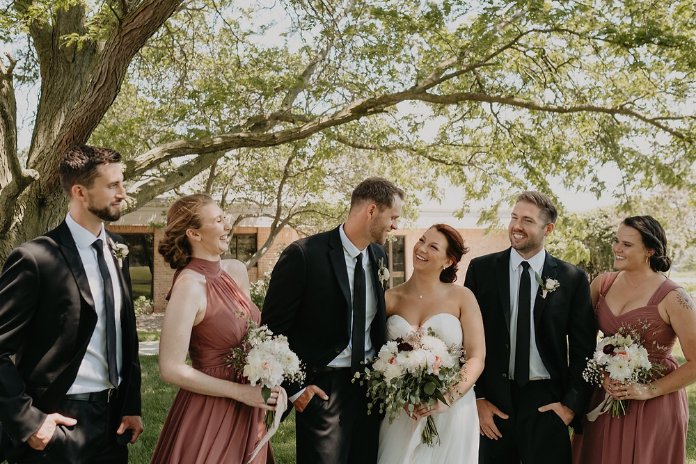 Wedding party photos before ceremony. Photographed by Nicole Leanne Photography.