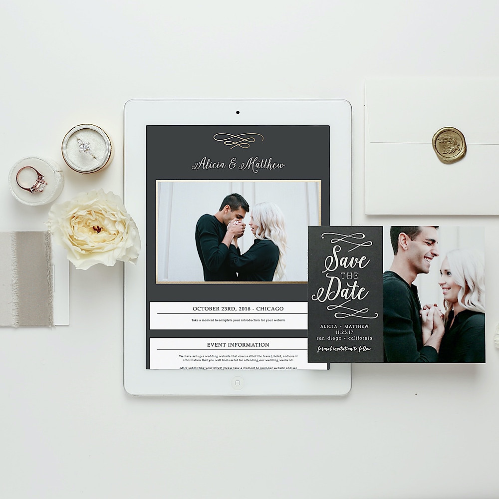 custom free wedding website ipad