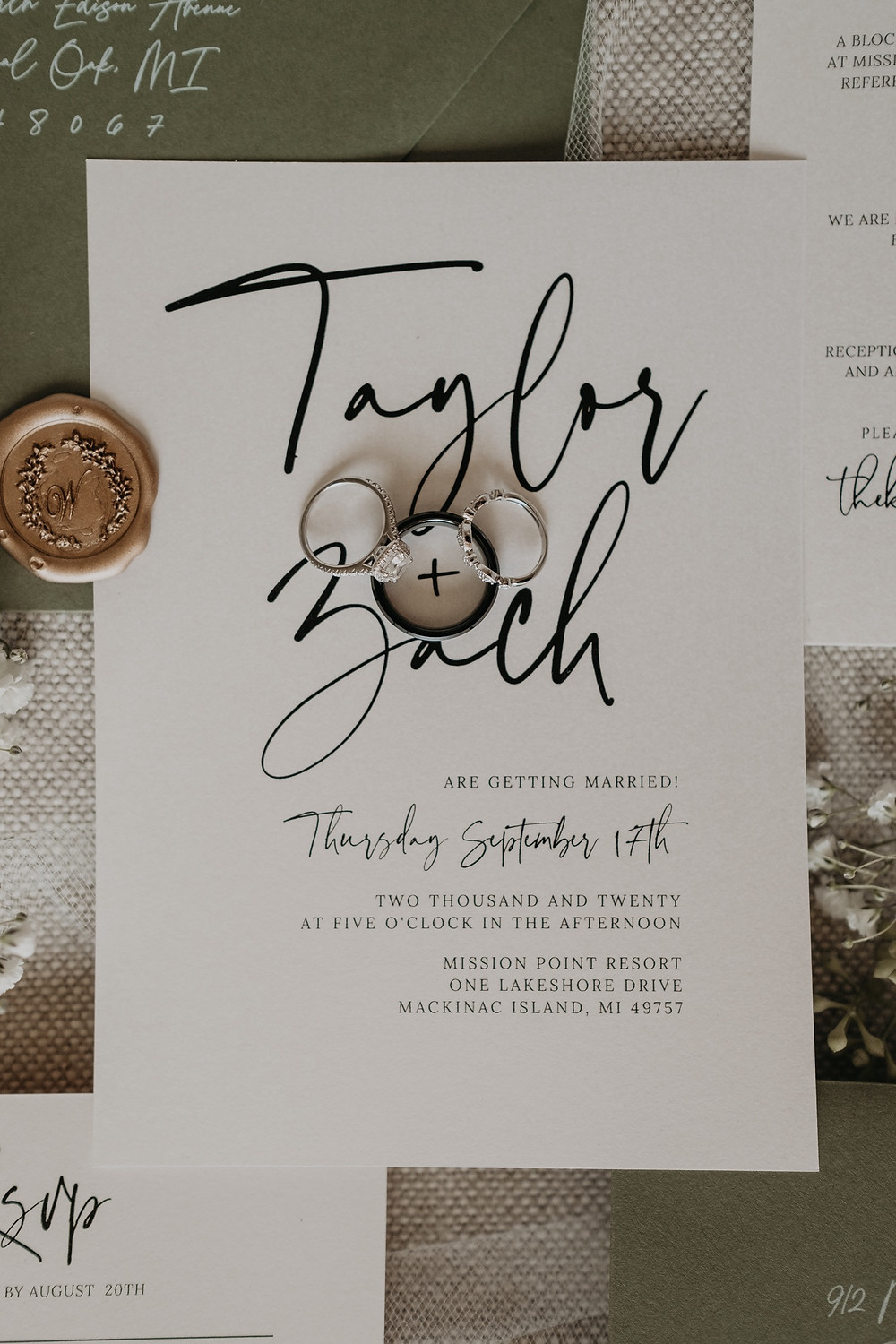 Wedding stationary suite. Photographed by Nicole Leanne Photography.