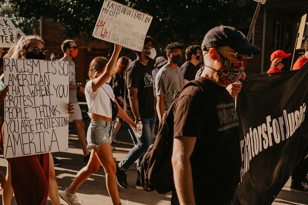 Racism protests during Black Lives matter movement in 2020