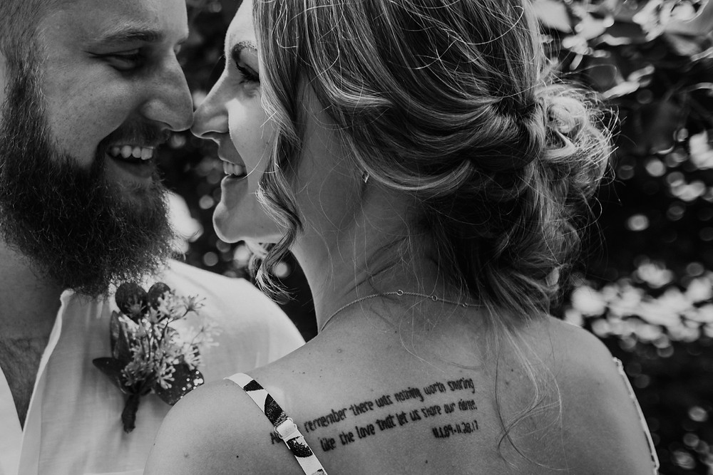 Metro Detroit backyard wedding. Photographed by Nicole Leanne Photography.
