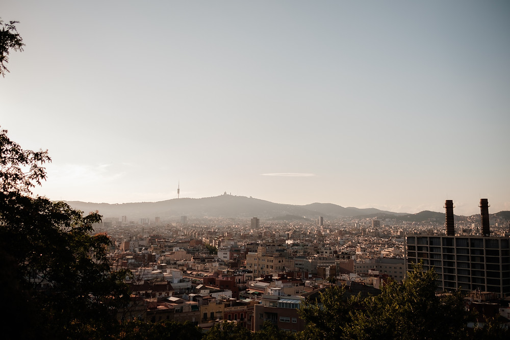 looking over the city, Barcelona