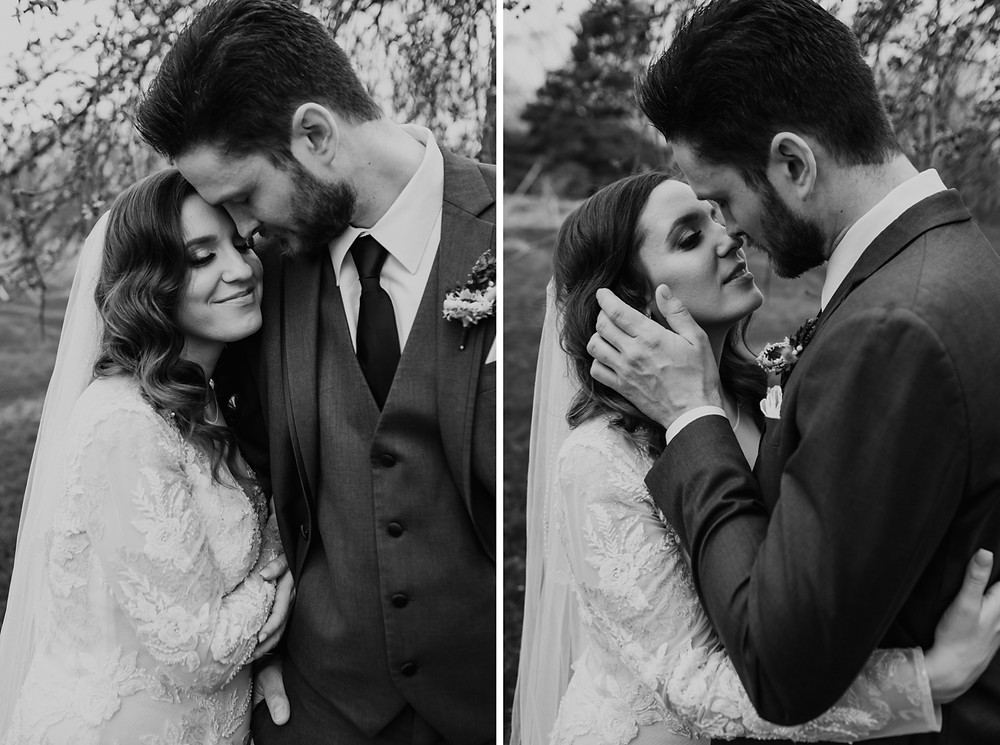 Black and white wedding photos. Photographed by Nicole Leanne Photography.