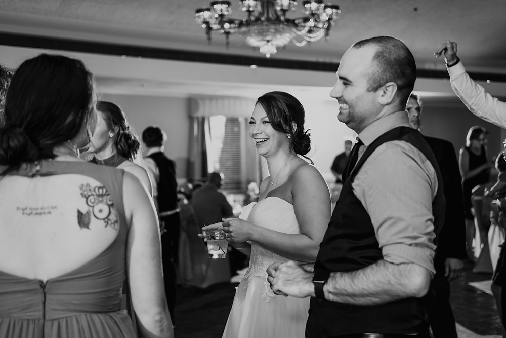 Bride dancing candids. Photographed by Nicole Leanne Photography.
