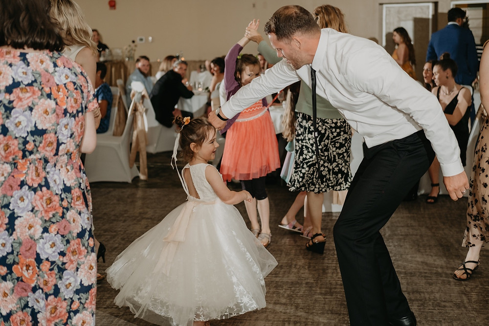 Dancing candids at wedding. Photographed by Nicole Leanne Photography.