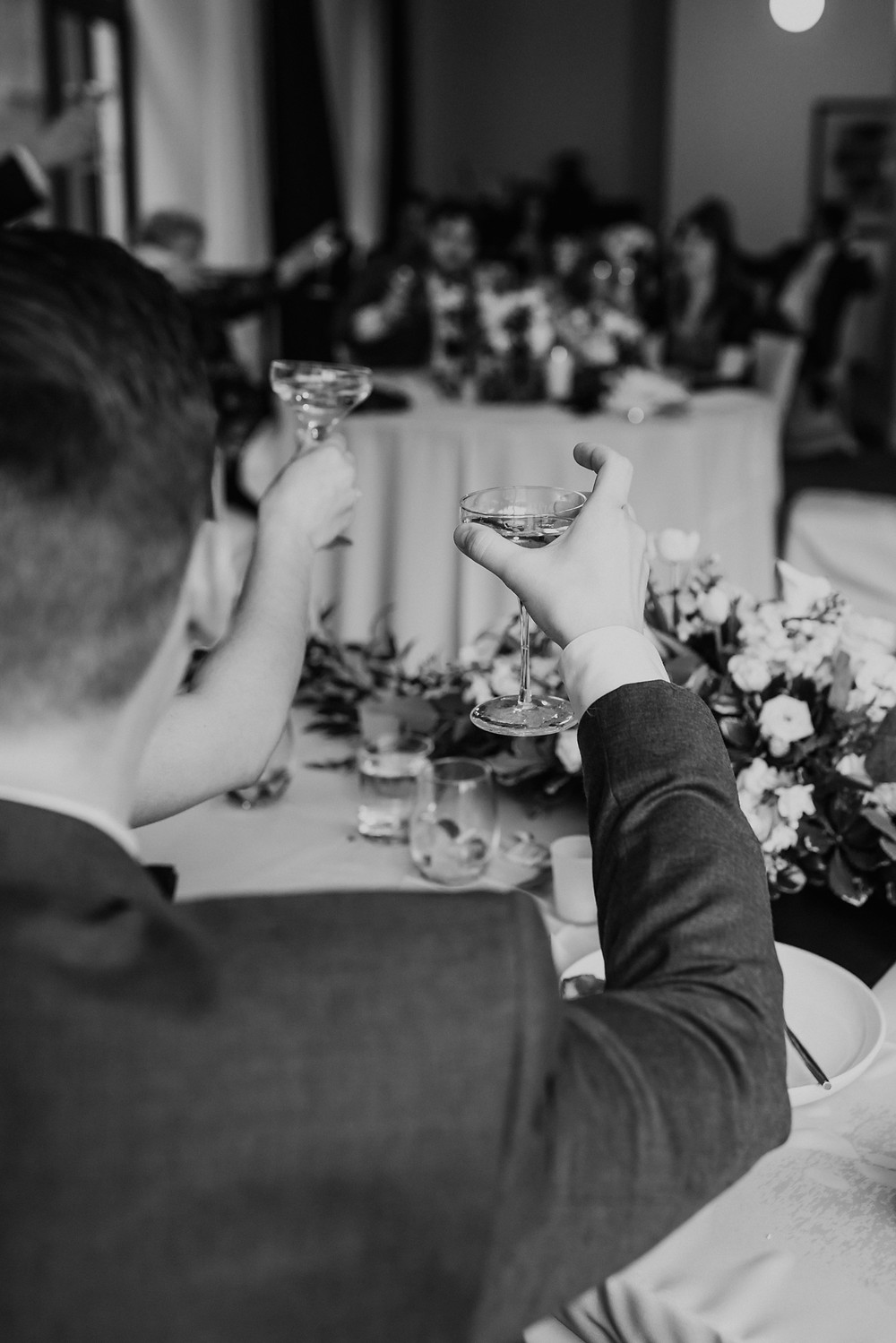 Wedding day toast with champagne. Photographed by Nicole Leanne Photography.