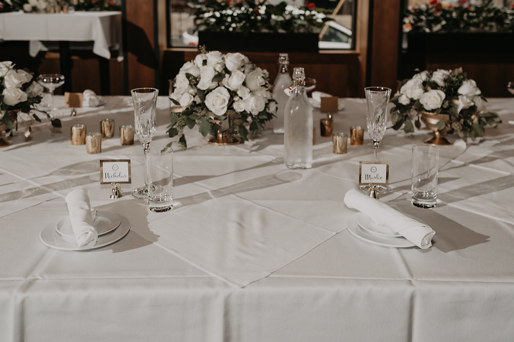 D'Marcos Wine Bar wedding reception setup. Photographed by Nicole Leanne Photography.