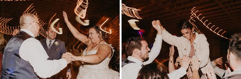 Metro Detroit wedding guests dancing at Allentown barn wedding