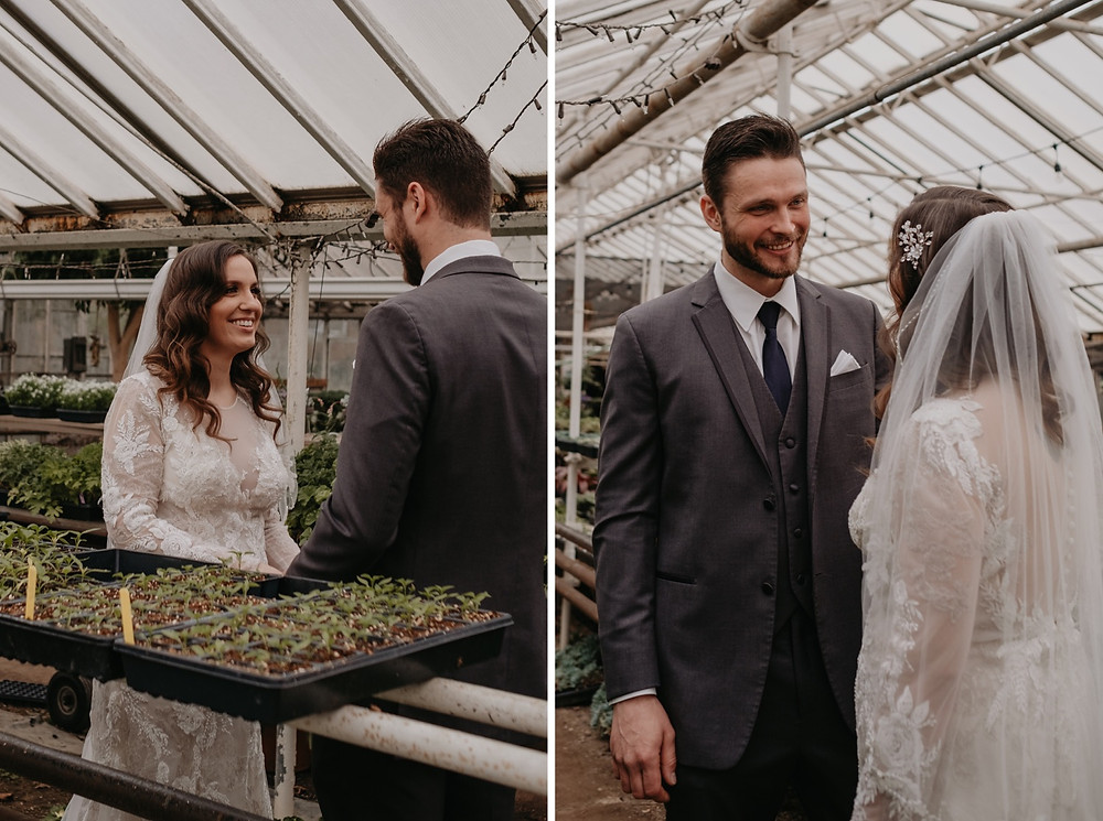 Graye's Greenhouse wedding photos. Photographed by Nicole Leanne Photography.