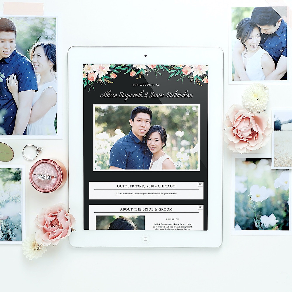 custom free wedding website