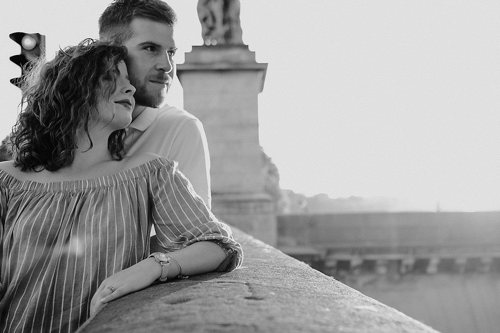Couple traveling in Paris. Photographed by Nicole Leanne Photography.