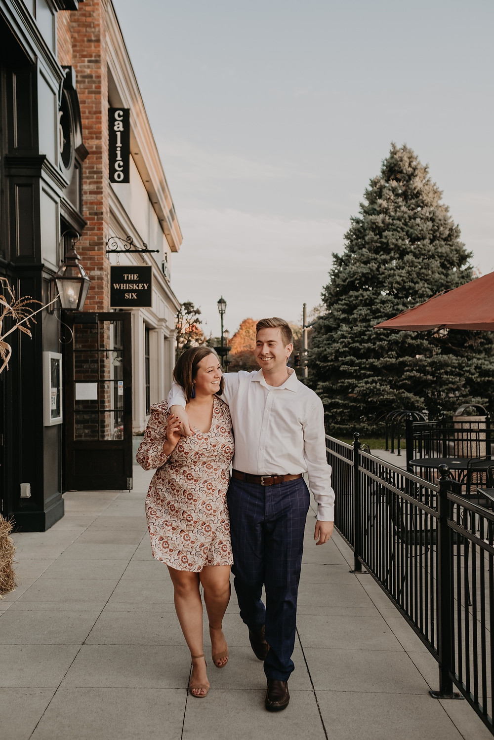 Grosse Pointe engagement photos in summertime. Photographed by Nicole Leanne Photography.