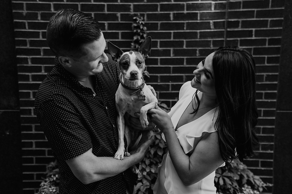 Shinola Alley engagement photo in Detroit. Photographed by Nicole Leanne Photography.