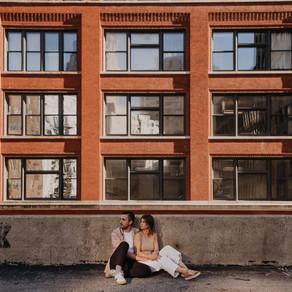 LINDSEY + TYLER   CAPITOL PARK DOWNTOWN DETROIT ENGAGEMENT   DETROIT ENGAGEMENT PHOTOGRAPHER