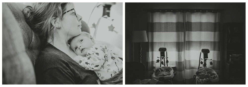 Black and white, twin boys