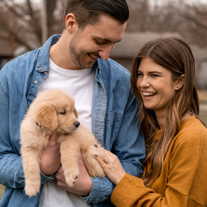 LINDSEY + TYLER ENGAGEMENT | ROYAL OAK PROPOSAL WITH PUPPY