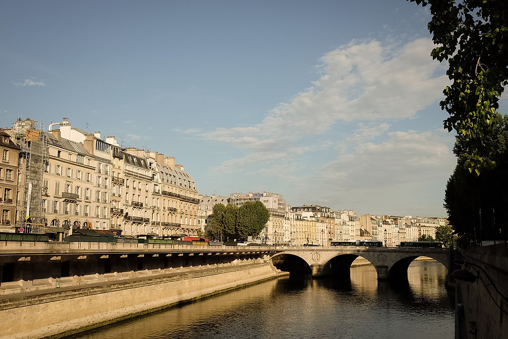 river near Notre Dame