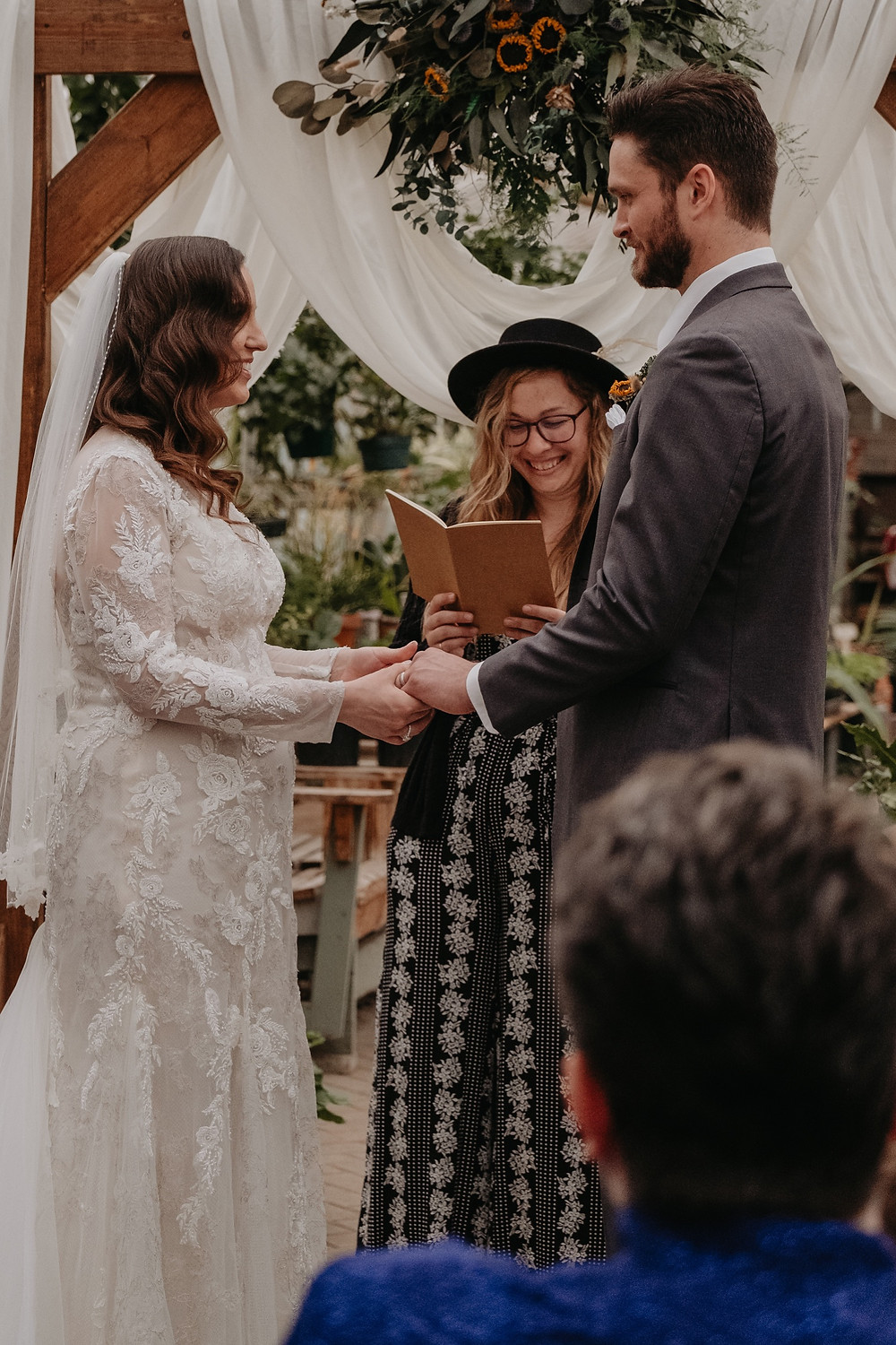 Wedding officiated by The Lost Forty. Photographed by Nicole Leanne Photography.