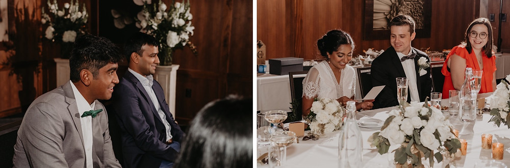 Wedding reception and dinner at D'Marcos Wine Bar in Rochester, Michigan. Photographed by Nicole Leanne Photography..