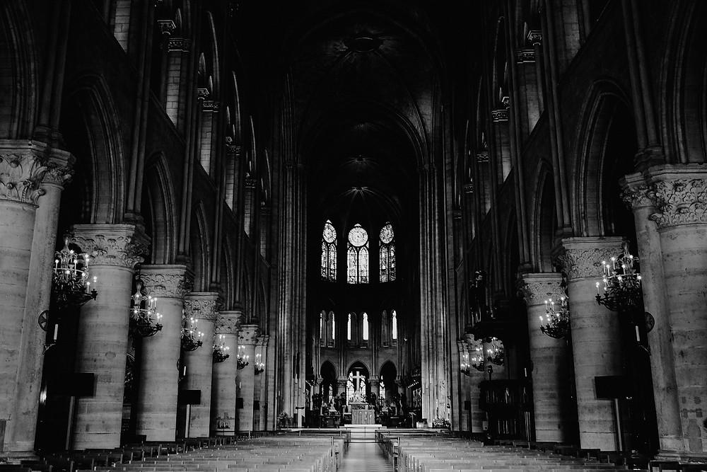 inside Notre Dame chapel